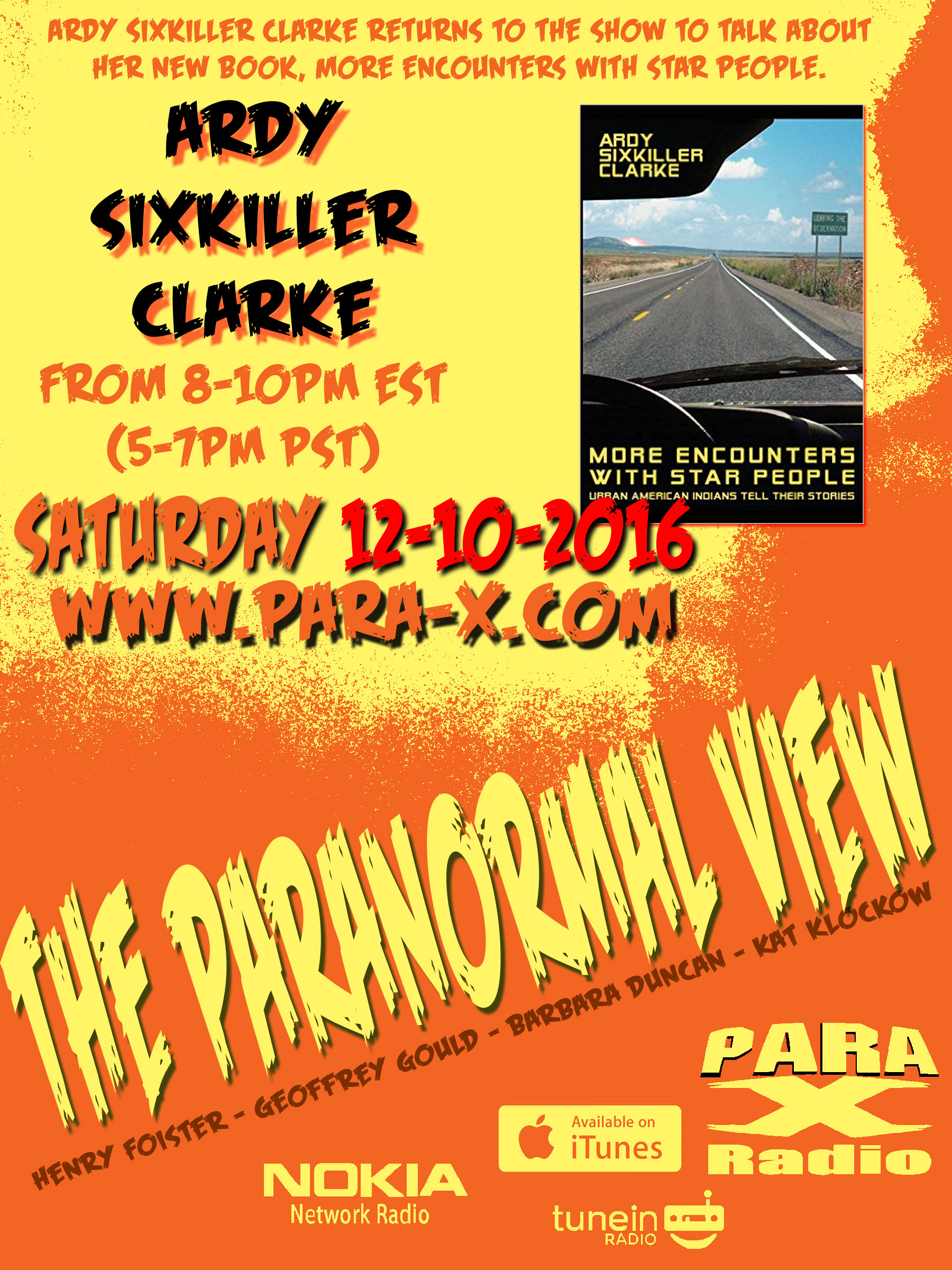 Ardy Sixkiller Clarke | The Paranormal View - Para-X Radio Network